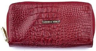 7542dc651075a Carteira feminina Tinna em couro legítimo vermelha