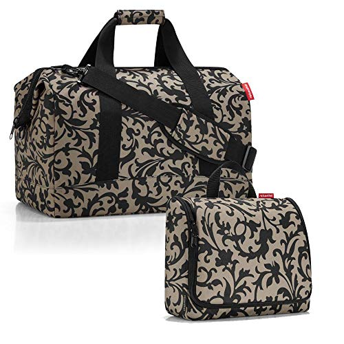 reisenthel allrounder L mit toiletbag XL und wahlweise mit extra Zugabe Reisetasche Waschtasche (baroque taupe)
