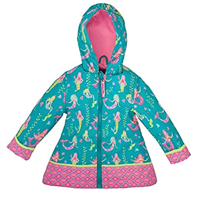 Stephen Joseph All Over Print Rain Coat, Mermaid,5/6
