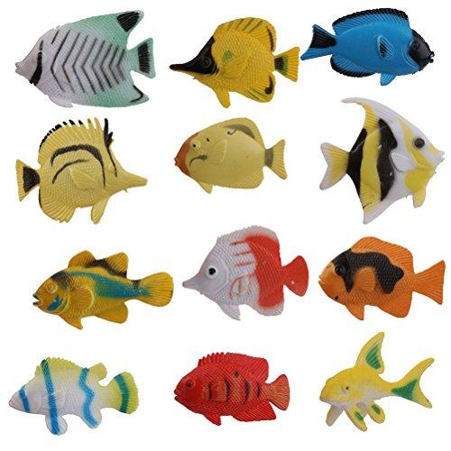 PIXNOR 12pcs Tropischer Fisch Vorschul-Kinder Spielzeug