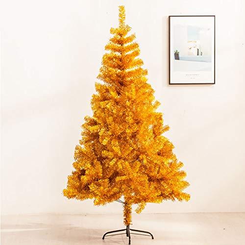 DULPLAY Eco-amistoso Oro Árbol De Navidad Artificial,con Bisagras Natural Alpino Soporte De Metal Árbol De Navidad para Interiores Aire Libre-Dorado 300cm(118inch)