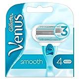 Gillette Venus - 84858542 - Lames de rasoir, bleu clair, blanc, Un paquet de 4