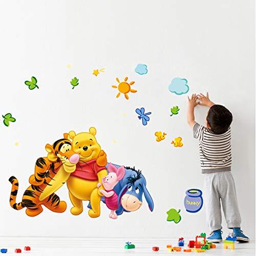 Smart Art Disney Winnie The Pooh Wall Stickers Kinder Schlafzimmer Wall Decals Wanddekorationen Tapete DIY-Design