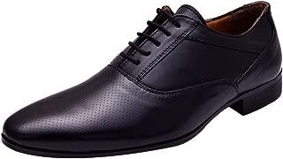 HiREL'S Men Black Oxford Office Formal Shoes