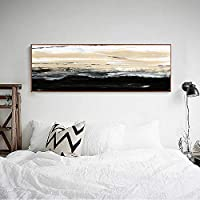 Xykshiyyレトロ抽象Caiyunキャンバス絵画ポスタープリントリビングルームのファッション壁アート装飾Tableauキャンバスアールデコ/ 50x100cm(フレームなし)