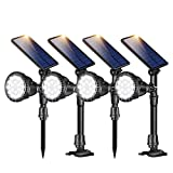 ROSHWEY Outdoor Solar Spot Lights, Super Bright 18 LED Security Lamps Waterproof Spotlight