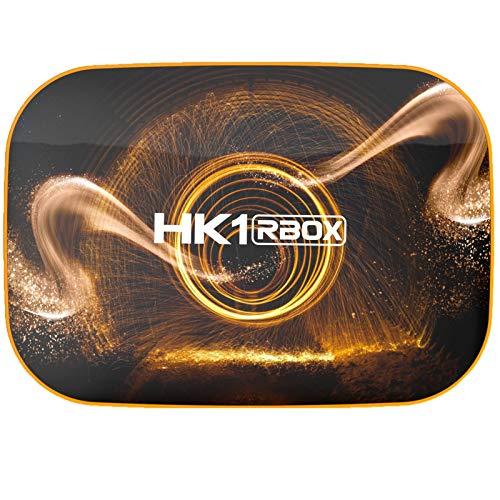 Android Smart TV Box Streaming Media Player RK3318 USB 3.0 Inalámbrico Ultra HD Bluetooth 4.0 STB Con Mini Teclado Inalámbrico Retroilluminata Set-Top Box HK1 RBOX,4GB/64GB British standard