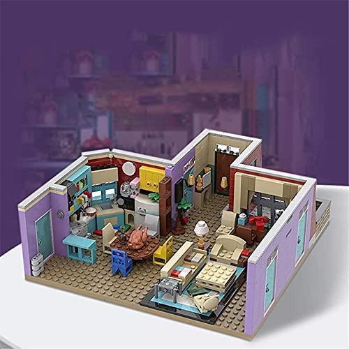 GDEVNSL Conjunto de Modelos de construcción de Micro Mini Bloques, Arquitectura clásica de Cine y televisión Café Bar Conjunto de Ladrillos de construcción ensamblados Juguete Educativo para niños