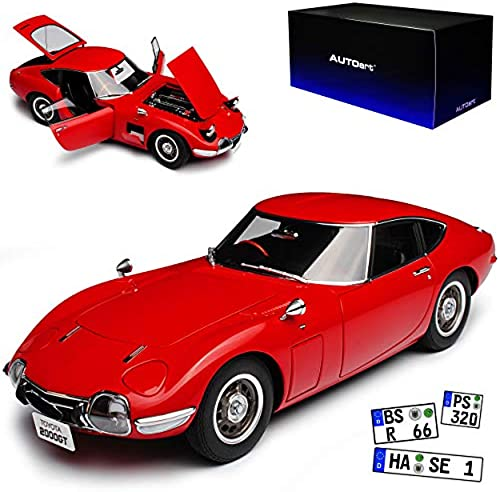 AUTOart Toyota 2000 GT Coupe Rot 1965 1967-1970 78751 1 18 Modell Auto