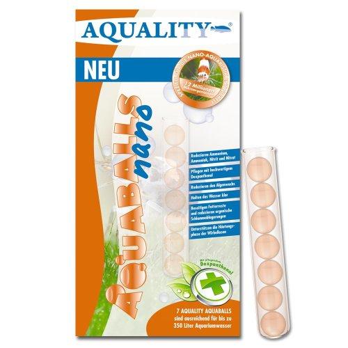 aquality Aquarium AQUABALLS - 7 Balls (Mikroorganismen für alle Aquarien geeignet - auch für Garnelen und Wirbellose entwickelt - Reduzieren Ammonium, Ammoniak, Nitrit, Nitrat)