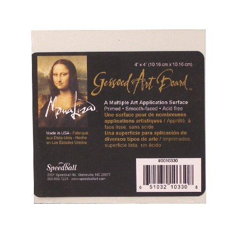 Speedball Mona Lisa Art Gesso Board, 4 Pulgadas por 4 Pulgadas, Color Blanco