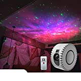 Galaxy Projector, LED Star Night Light Projector with Bluetooth Music Speaker for Bedroom/ Decor/ Party/ Game Room, Sky Starry Ceiling, Aurora Wave Nebula Projector, for Family and Kids, L-White