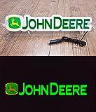 Placa de neón de luz LED 3D 12 V para John Deere Tractor Driver Green Sign Table ILUMINating only forward – No te molesta mientras conduces