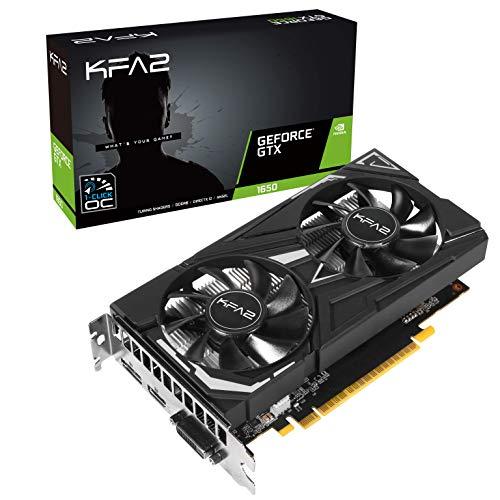 KFA2 nVidia GeForce GTX 1650 EX PLUS 4GB 128-bit GDDR6 PCIe Grafikkarte, 65SQL8DS93EK, Schwarz