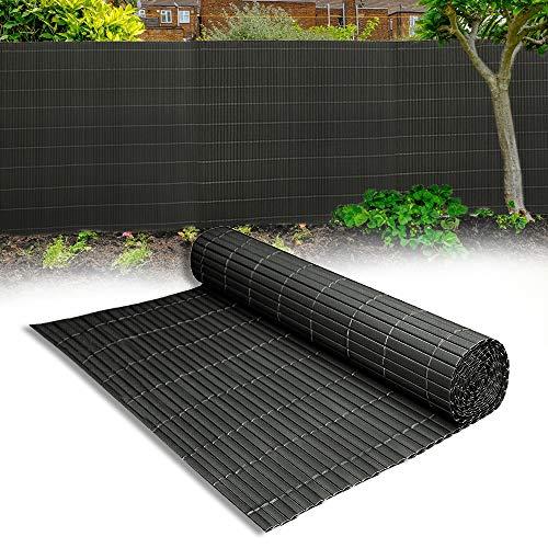 Aufun Sichtschutzmatte PVC 180x500cm - Sichtschutzzaun Anthrazit Windschutz fur Garten Balkon und Terrasse (180x500cm,Anthrazit)