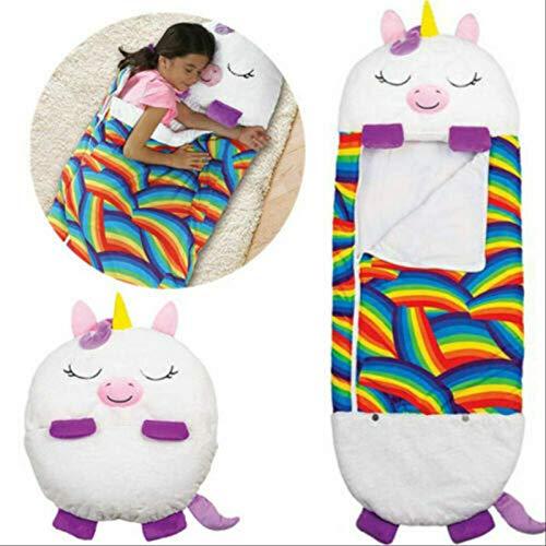 Happy Kids Nappers Juego Almohada, Divertido Saco De Dormir Plegable Suave Niños Niño Saco De Dormir, Dibujos Animados Saco De Dormir Almohada
