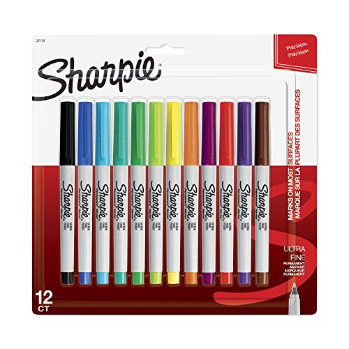 Sharpie 12pk Permanent Markers Ultra Fine Multicolor
