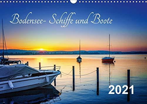 Bodensee-Schiffe und Boote (Wandkalender 2021 DIN A3 quer)