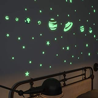 Glow In The Dark Stars Stickers and Planets Supernova: 8 Planets and 40 Ceiling Stars - 3D Planetarium - Gift Set with Sticky Putty, Meshed Bag & Planet Compendium - Planets and Glow Stars for Bedroom