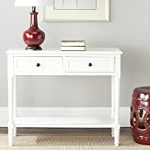 Safavieh American Homes Collection Samantha Distressed Cream 2-Drawer Console Table