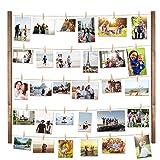 Vencipo Marco Fotos Multiple, Marco de Madera para Decoración de Paredes Colgantes, Marcos Fotos Pared Decoración del Hogar Y Regalo.