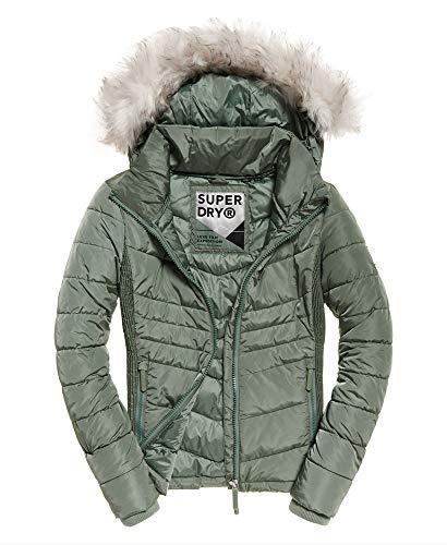 Superdry Jacke Damen Luxe Fuji Vintage Wash Sage, Größe:M