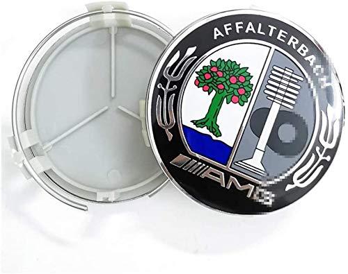 4pcs Auto Wheel Hub Center Caps Cubiertas 75mm para Mercedes-Benz AMG Reemplazo Insignia Emblema Cubiertas Decorativas Ruedas Trim Car Styling Accessori