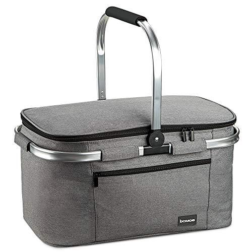 bomoe Kühltasche Picknickkorb faltbar IceBreezer K47 - Outdoor Kühlbox für unterwegs - 47x27x26 cm - 32 Liter - Auch als Picknicktasche nutzbar - Perfekt fürs Grillen oder Festival