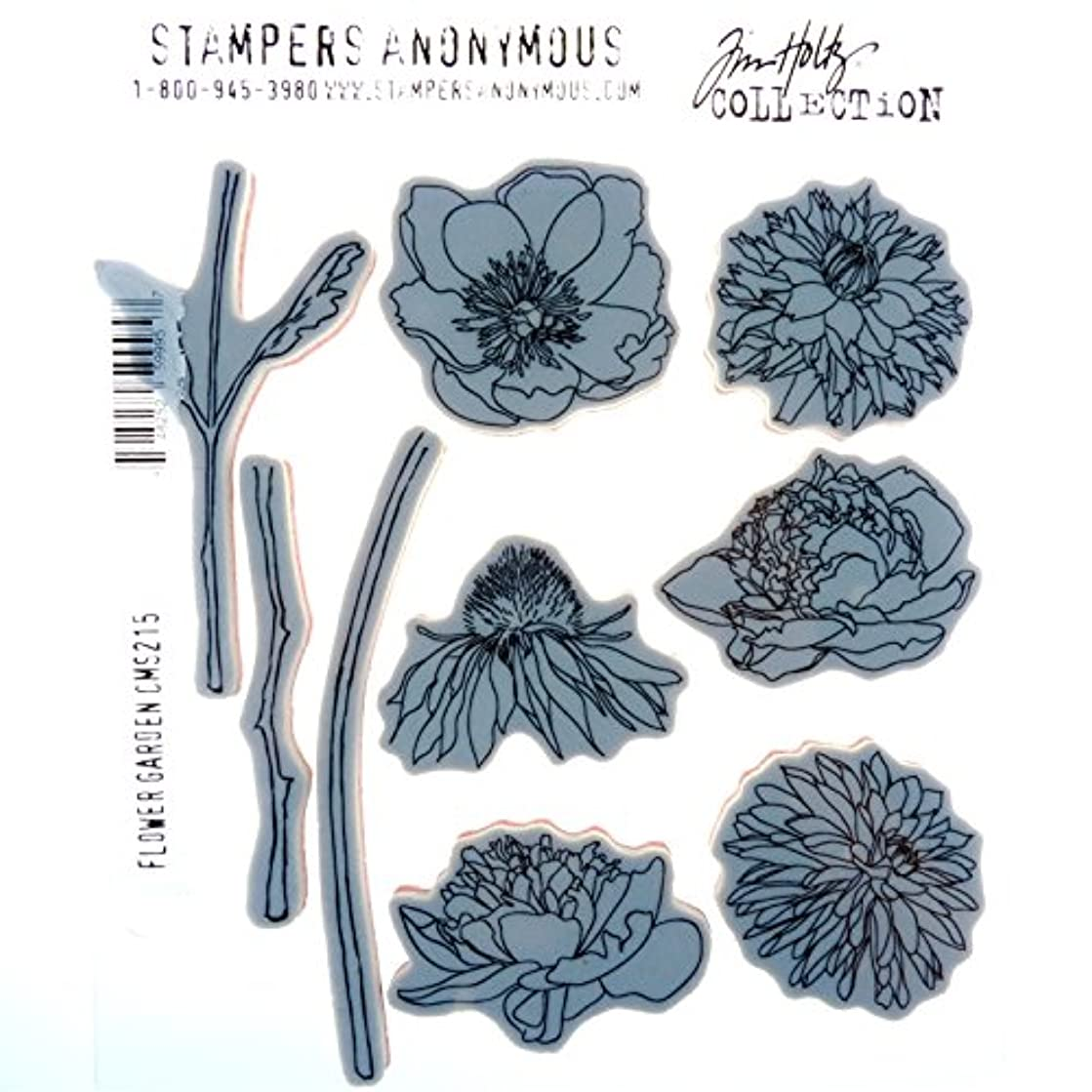Stampers Anonymous Tim Holtz Cling Rubber Flower Garden Stamp Set, 7 x 8.5
