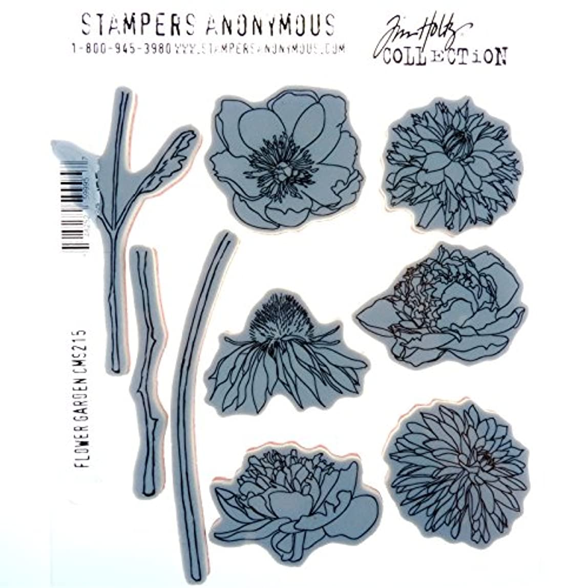 Stampers Anonymous Tim Holtz Cling Rubber Flower Garden Stamp Set, 7 x 8.5 ihfupoi562161