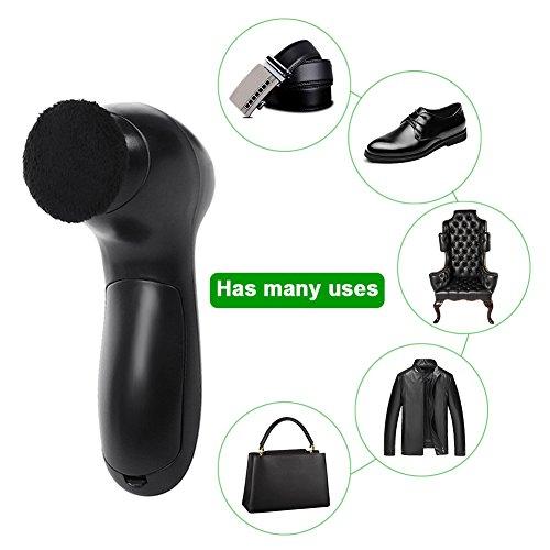 Gorgebuy pulidor de Zapatos eléctricos, Zapatos depurador portátil Kit de Cepillo de Limpieza de Zapatos para Zapatos de Cuero