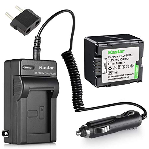 Kastar New Battery+Charger for Panasonic Camcorder VDR-D100 VDR-D105 VDR-D200 VDR-D210