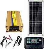 DWXN Kit Sistema Fotovoltaico 220 Watts Y 18 Voltios, Solar, Cargador Bateria, Paneles Solares Monocristalinos, con Controlador 20 A, Panel Solar para Autocaravana