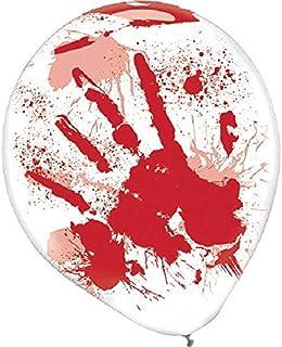 "amscan Blood Splatter Balloons | Halloween Décor, 12"", 6 Ct. White/Red"