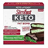 SlimFast Keto Fat Bomb Snacks - Mint Cup - 17 Grams - 14 Count Box - Pantry Friendly
