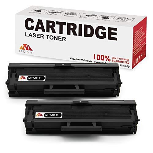 Mony Compatibile Cartucce del Toner per Samsung MLT-D111S 111S ELS (2 Nero) per Samsung Xpress SL M2070 M2070fw M2026 M2026w M2070w M2020w M2022 m2022w M2020 Laser Stampante