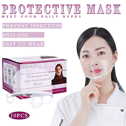 Transparent Mouth Shield for Restaurant Hotel Hospital Waiter Waitress...