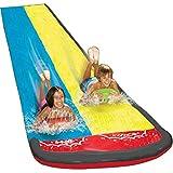 Morningtime Wasserrutsche Kinder doppel Wasserrutschbahn Wassermatte Mit Sprinkler, Kinder Wasser Spielzeug Outdoor Wasserspielzeug Für Garten Rasen