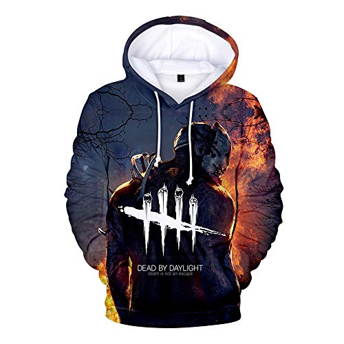 BIUBIUCLA Dead by Daylight Pullover Sweats à Capuche for Hommes Sweat-Shirt à la Mode Graffiti Couple Pullover Plusieurs Tailles Unisexe (Color : A02, Size : M)