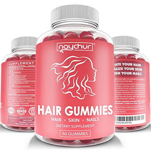 Price comparison product image Hair Growth Vitamins Biotin Gummies - Hair Skin and Nails Vitamins for Faster Hair Growth - Hair Loss Treatments Care Thickening Products for Women Men - Thinning Hair Beard Regrowth Supplement Gummy