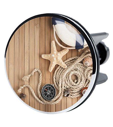Waschbeckenstöpsel, viele schöne Stöpsel zur Auswahl, deckt den kompletten Abflussbereich ab ✶✶✶✶✶ (Maritime XXL)