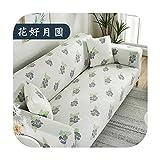 Sofá cubre cuadros en el sofá de algodón Canape cubierta para sala de estar I forma convertible Kit-Type21-145-185Cm
