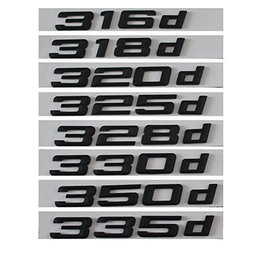 TAYDMEO 316d 318d 320d 325d 328d 330d 335d Badge Emblema Lettere Auto, per BMW Serie 3 E90 E46 E91 E92 E93 F30