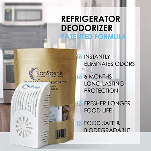 Refrigerator Deodorizer - Fridge and Freezer Odor Eliminator - Outperforms Baking Soda