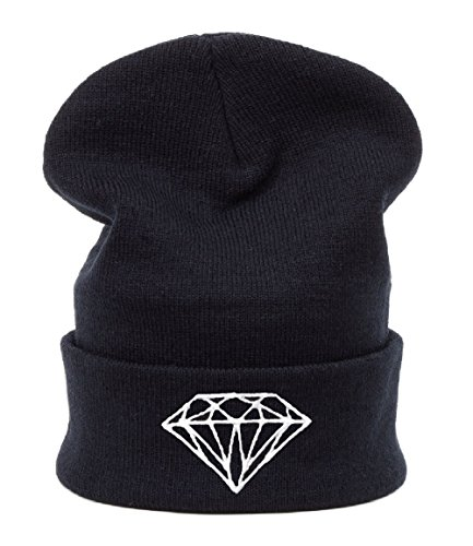 Beanie hat Bonnet Fashion Jersay Oversize Bad Hair Day Bastard Diamond