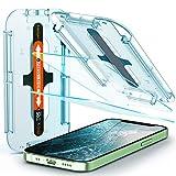 Spigen Glas.TR Ez Fit Vetro Temperato Compatibile con iPhone 12 Mini, 2 Pezzi, Resistente ai Graffi, Durezza 9H Pellicola prottetiva