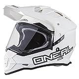 O'Neal ヘルメット Sierra II 18-19年 現行モデル デュアルスポーツ対応 フラットホワイト/L [並行輸入品]