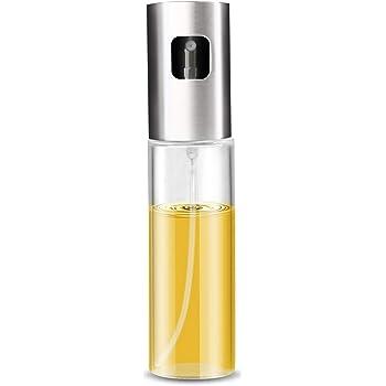 100 ml Pulverizador de aceite de oliva de cristal dispensador de aceite para barbacoa plata botella de aceite de cocina dispensador de aceite a prueba de fugas