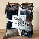 Wolves No-Sew Throw Blanket Anti-Pill Fleece Fabric Kit (50x60)