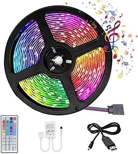 Tira de LED Decoracion de Luces RGB Multicolor Impermeable Control Remoto...